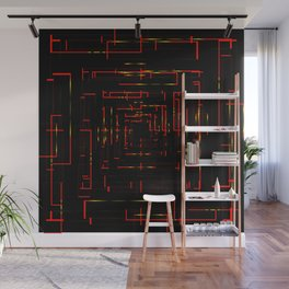Banners with electronic red cards. Wall Mural