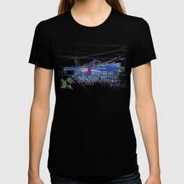 Spinning the Deck - Trick Scooter Sports Art T-shirt