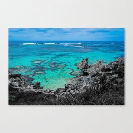 Beach in Turquoise Canvas Print