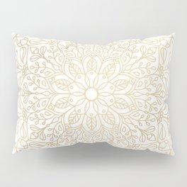 Gold Mandala Pillow Sham