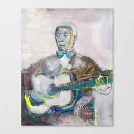 Old Blues Guitarist Canvas Print