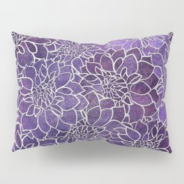 Dahlia Flower Pattern 3 Pillow Sham
