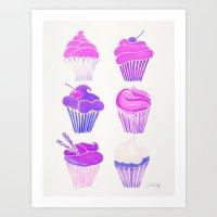 Cupcake Collection – Unicorn Palette Art Print