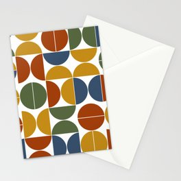 Colorful mid century moderna Stationery Cards