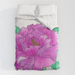 Wild Peony Watercolor Comforters