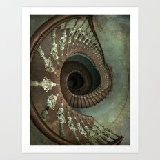 Ornamented spiral staircase Art Print