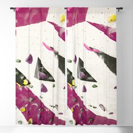 Maroon climbing wall boulders bouldering gym abstract geometric print Blackout Curtain