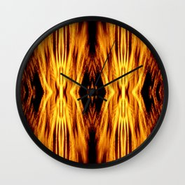 Flame Pattern Fire Astract Wall Clock