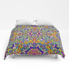 Arabesque kaleidoscopic Mosaic G520 Comforters