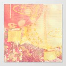red paper lantern, chinese lantern, Light Canvas Print