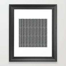 Herringbone Black Inverse Framed Art Print