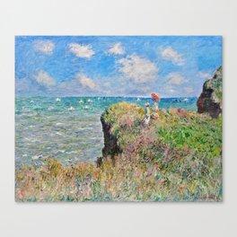 Claude Monet Cliff Walk At Pourville 1882 Canvas Print