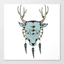 The cosmic deer Canvas Print