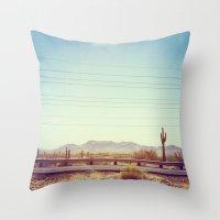 desert Throw Pillows featuring Desert by Whitney Retter