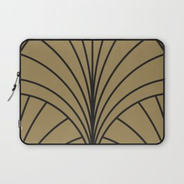 Diamond Series Floral Burst Charcoal on Gold Laptop Sleeve