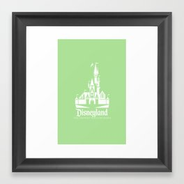 Disneyland - Green Framed Art Print