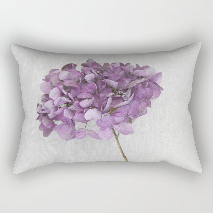 Purple Hydrangea Rectangular Pillow