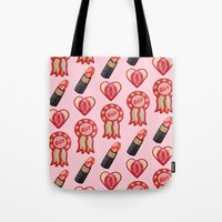 feminist Tote Bags featuring Feminist by King Sophie's World