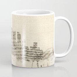 Pittsburgh Pennsylvania Skyline Sheet Music Cityscape Coffee Mug