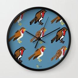 3 Robins Wall Clock