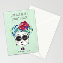 Frida by Patricia Fornos Stationery Cards