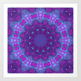 Pink, Purple, and Blue Kaleidoscope Art Print