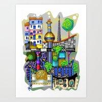 vienna Art Prints featuring Vienna  by Aleksandra Jevtovic
