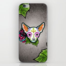 Chihuahua in White - Day of the Dead Sugar Skull Dog iPhone Skin