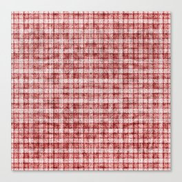 Dusty Pink Gingham Plaid Faux Suede Canvas Print