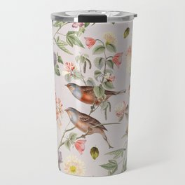 Violet and Rusty Pink Blooms Travel Mug