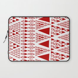 Zig Zag Pattern -  brick red Laptop Sleeve