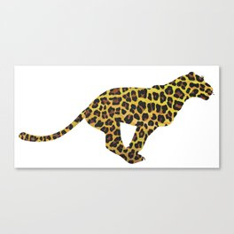 Leopard Brown and Yellow Print Canvas Print