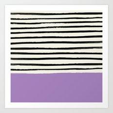 Lavender x Stripes Art Print
