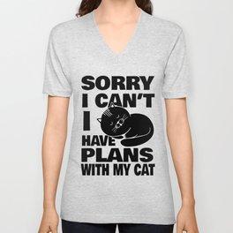 Cats Plans Home Rest Sarcasm Joke Gift Unisex V-Neck