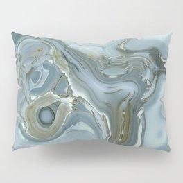 Precious Teal Blue Gemstone Agate Collage Pillow Sham