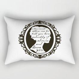 In Vain I Have Struggled Rectangular Pillow