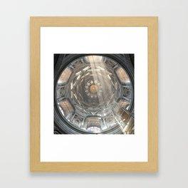 Holy geometrical ascension Framed Art Print