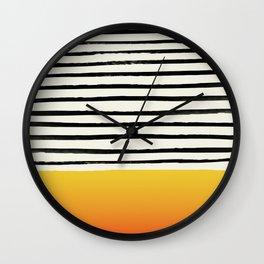 Sunset x Stripes Wall Clock