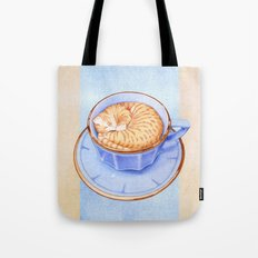 Cat in Coffee Tote Bag