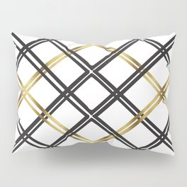 Crosshatch in Gold Pillow Sham