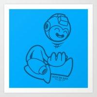 mega man Art Prints featuring Mega Man by La Manette