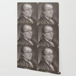 Vintage Portrait of Ben Franklin (1787) Wallpaper