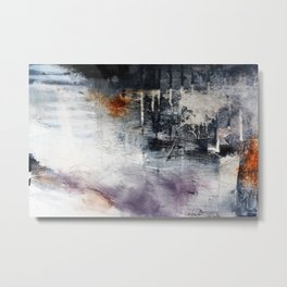 Black and white abstract painting print  Metal Print