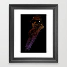 Jay-Z Color Framed Art Print