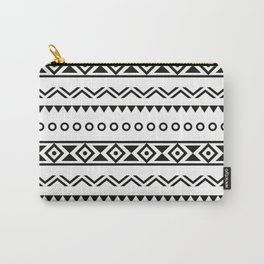 Black White Aztec Carry-All Pouch