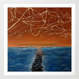Death Of A Boardwalk Art Print
