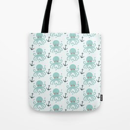 Squid Pattern Tote Bag
