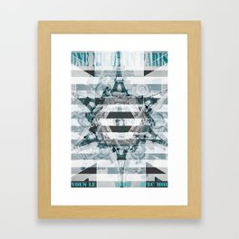 One Night in Paris Framed Art Print