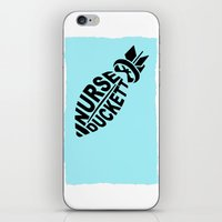 nurse iPhone & iPod Skins featuring NURSE DUCKETT by 3SCOOPS
