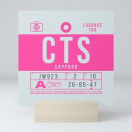 Luggage Tag B - CTS Sapporo New Chitose Japan Mini Art Print